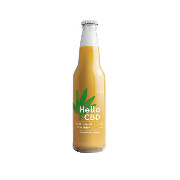 Hello CBD 15mg CBD Infused Soft Drink 330ml - Tropical