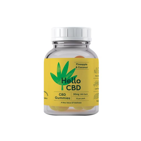 Hello CBD 300mg CBD Gummies - Pineapple & Coconut