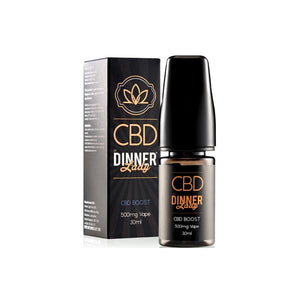 Dinner Lady 500mg CBD 30ml E-Liquid Boost (70VG/30PG)
