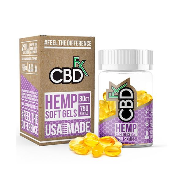 CBDfx Hemp 750mg CBD Soft Gel Capsules