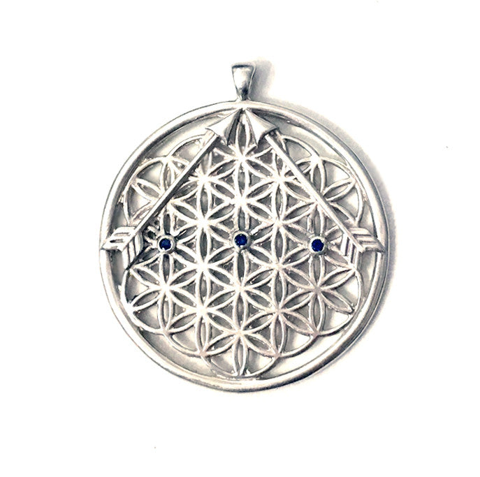 Orion Flower of Life Sapphire Medallion