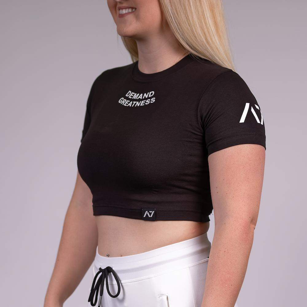 LOGO WOMEN'S CROP - BLACK