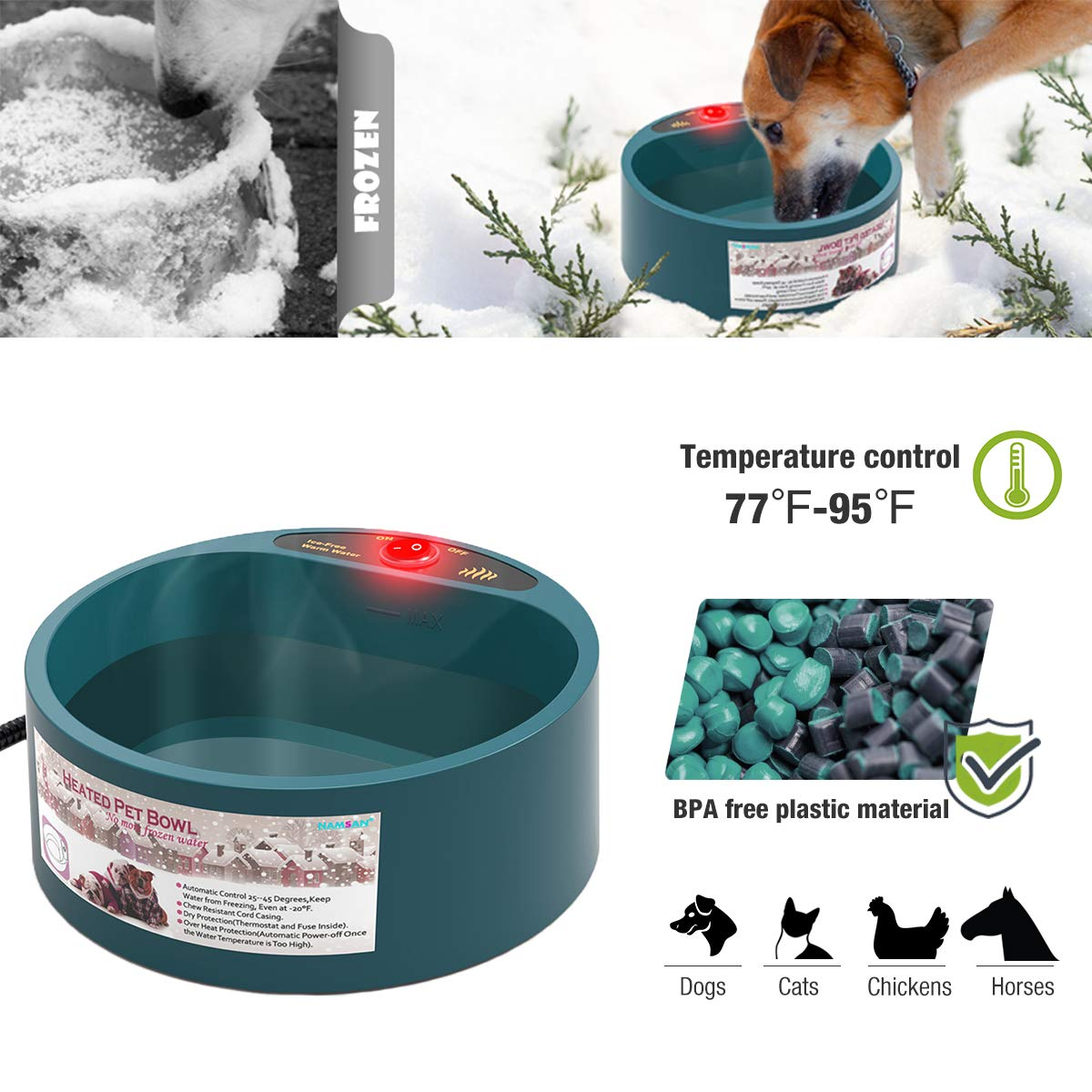 Image result for Heated Water Bowl for Dogs and Cats