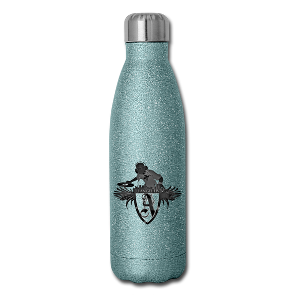 DJ ANGEL LIVE Insulated Stainless Steel Water Bottle - turquoise glitter