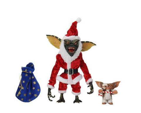 "GREMLINS 7"" SCALE ACTION FIGURE SANTA STRIPE & GIZMO"