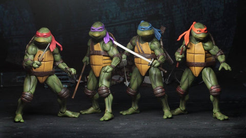 7 INCH TEENAGE MUTANT NINJA TURTLES TMNT 90's MOVIE SET