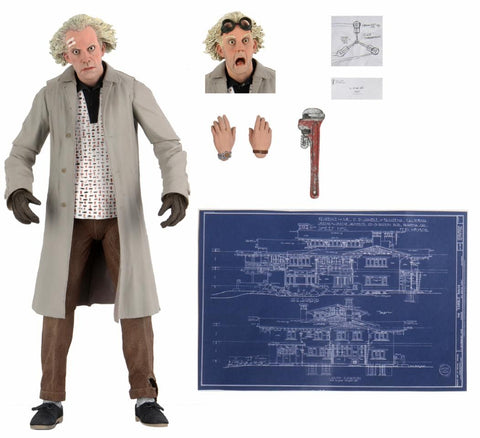 "BACK TO THE FUTURE - 7"" SCALE ACTION FIGURE – ULTIMATE DOC BROWN"