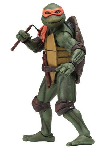 "TEENAGE MUTANT NINJA TURTLES – 7"" SCALE ACTION FIGURE – 1990 MOVIE MICHELANGELO"