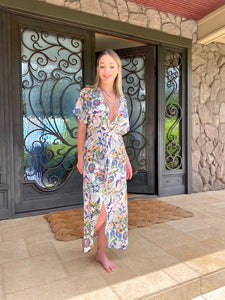 Angela Twist-Front Maxi Dress