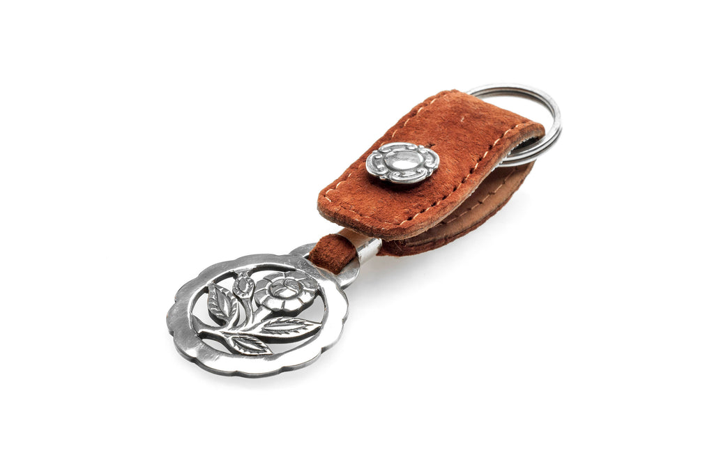 Thistle flower fretwork big keychain