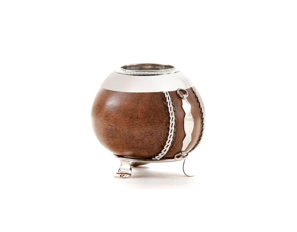 Mate gourd and nickel silver , Mate cup , yerba mate ,argentina mate