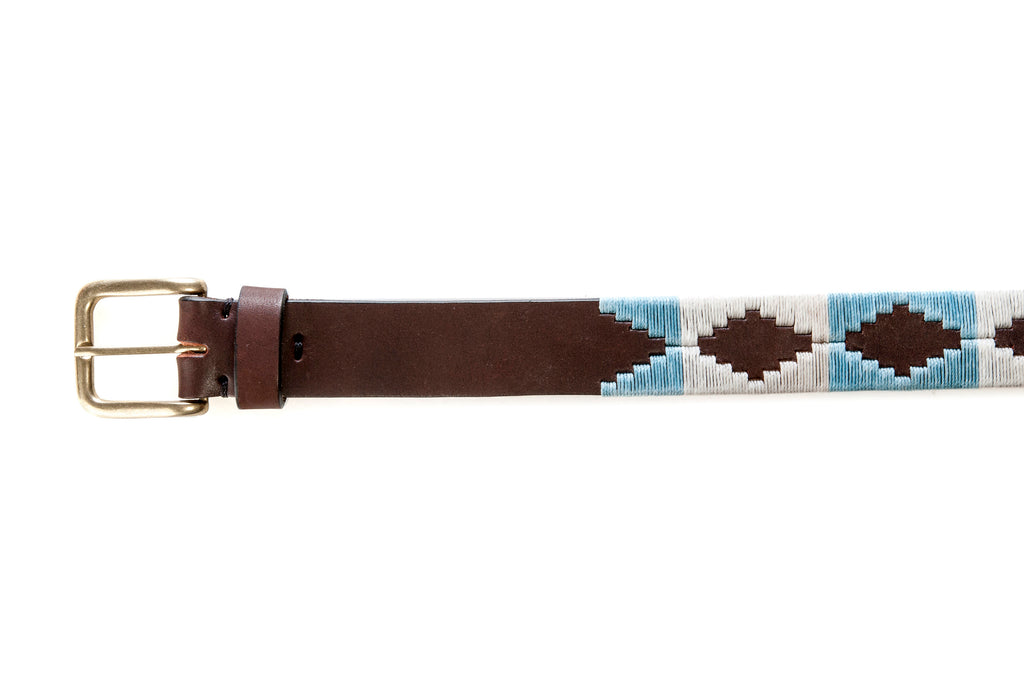 Polo belts, Gaucho belt, Western leather belt, Embroidered belt, Multicolor, Argentinian leather, Genuine Leather Belt,