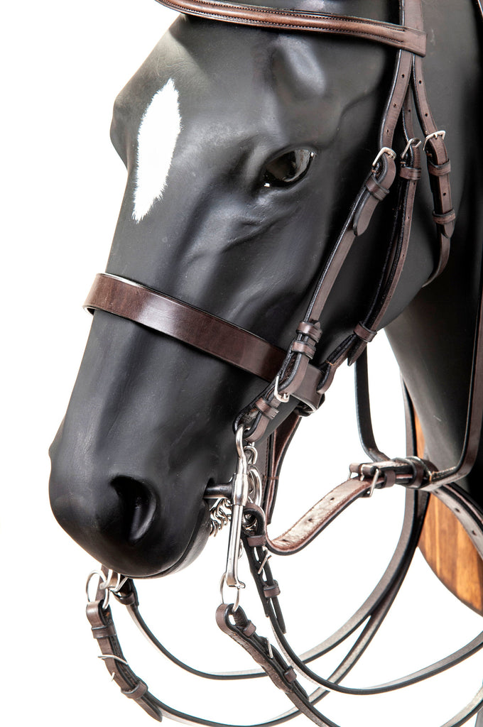 Premium Leather Pelham Bridle Set