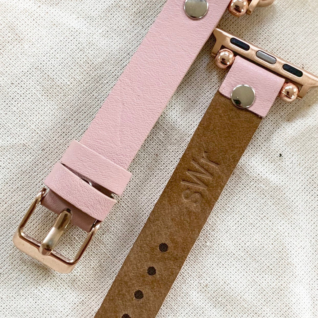 Apple Watch Band 38mm 40mm 42mm 44mm, Slim fit Band, Gift for sister, Apple Watch Strap Women, iWatch Band, Leather Apple Watch Band