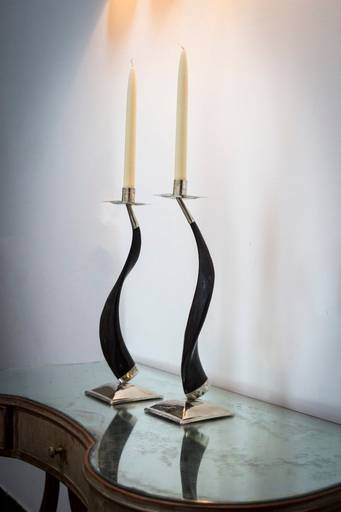 Art deco chandelier, Horn candle holder , antler candlestick holder , antler candle holders , antler candelabra ,