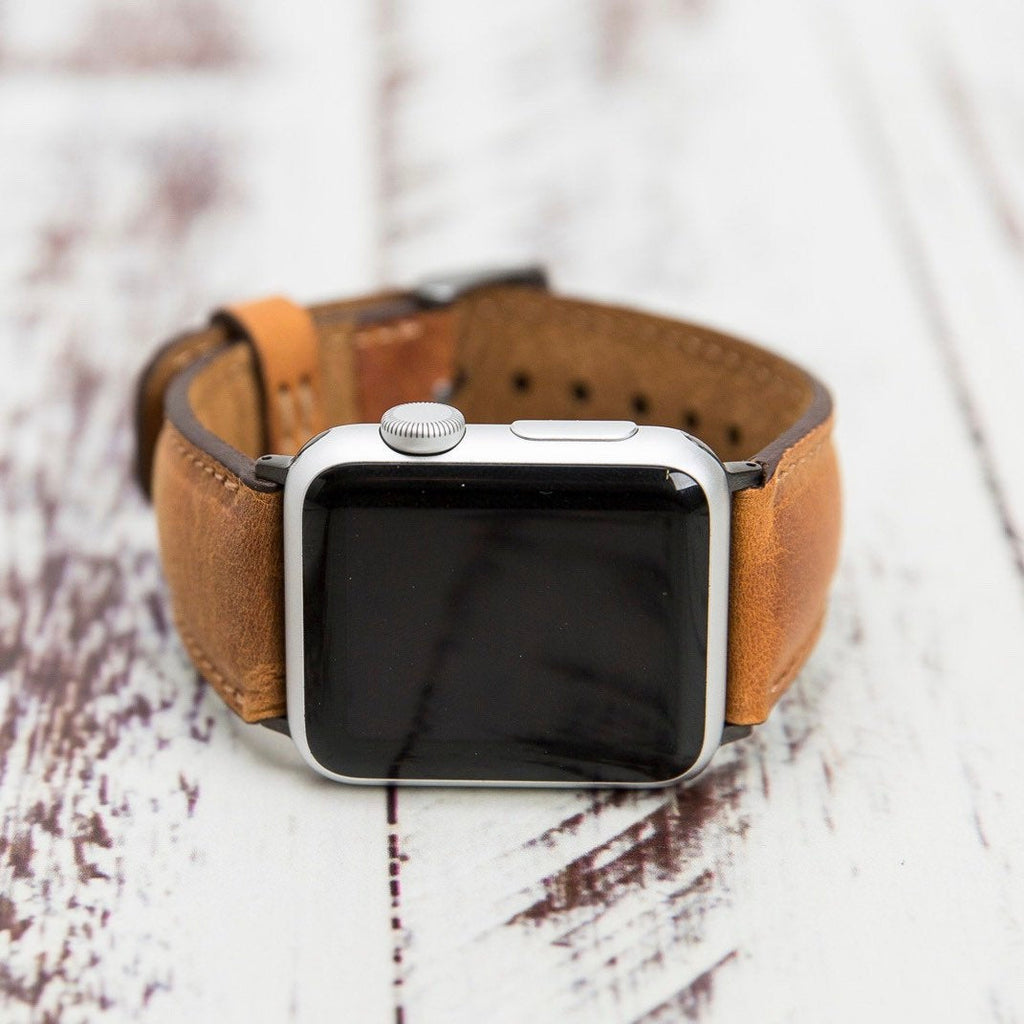 Full Grain Leather Apple Watch Band 48mm 40mm 42mm 44mm, for series 1-2-3-4, iWatch Band, Leather Apple Watch Strap
