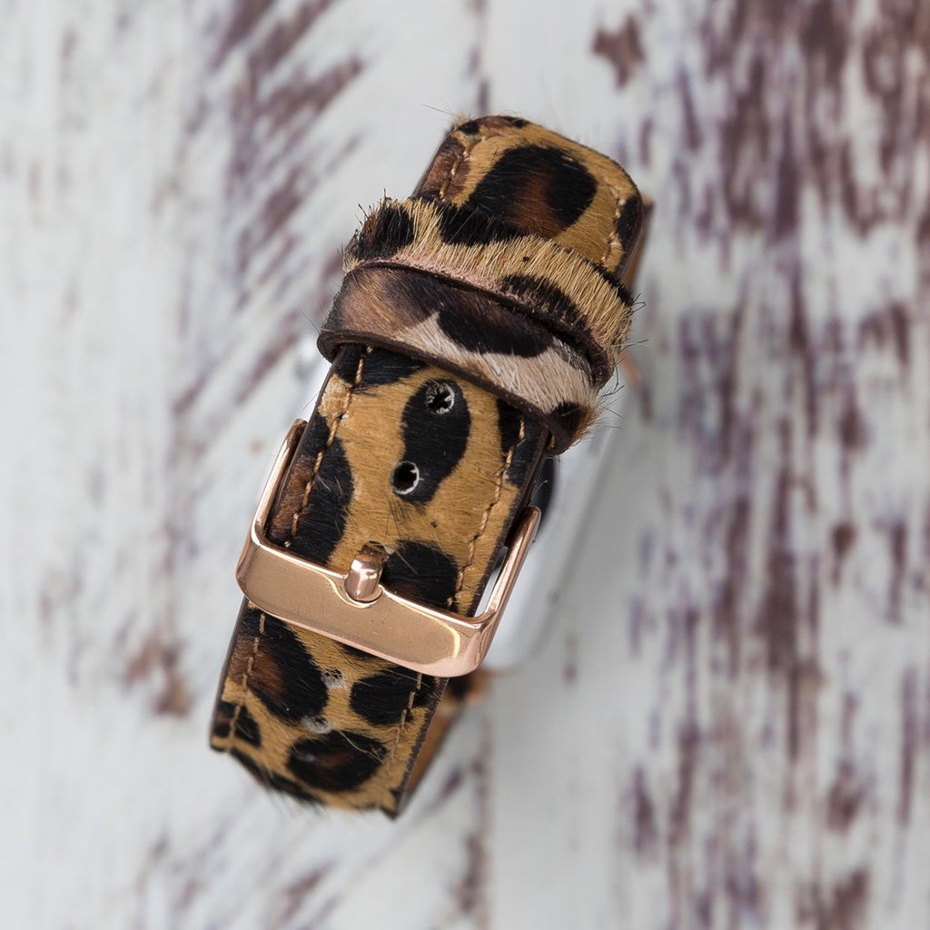 Leopard Apple Watch Band 38mm 40mm 42mm 44mm, Furry Leopard Pattern Apple Watch Strap, iWatch Bracelet