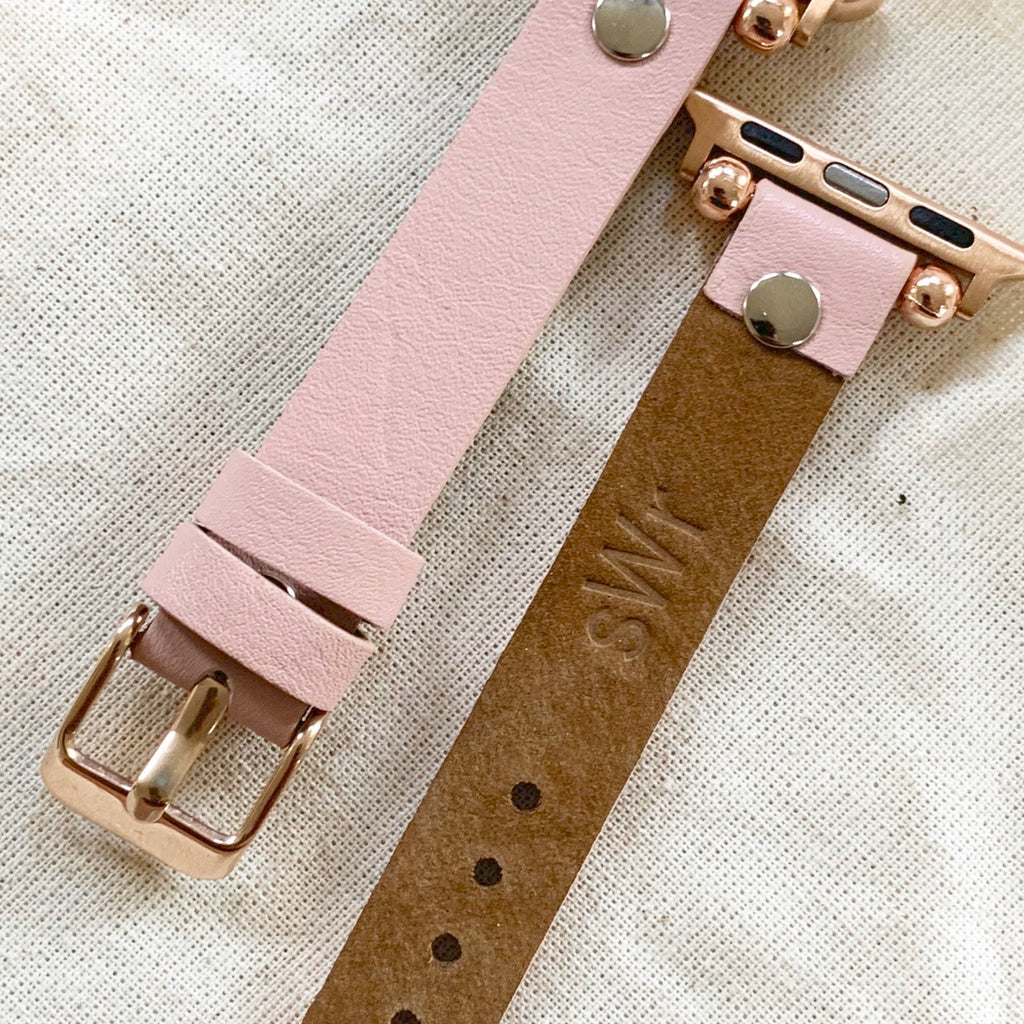 Premium Leather Apple Watch Band, Custom iwatch strap, 38mm 40mm 42mm 44mm iwatch band, Gift for wife , Gift for husband