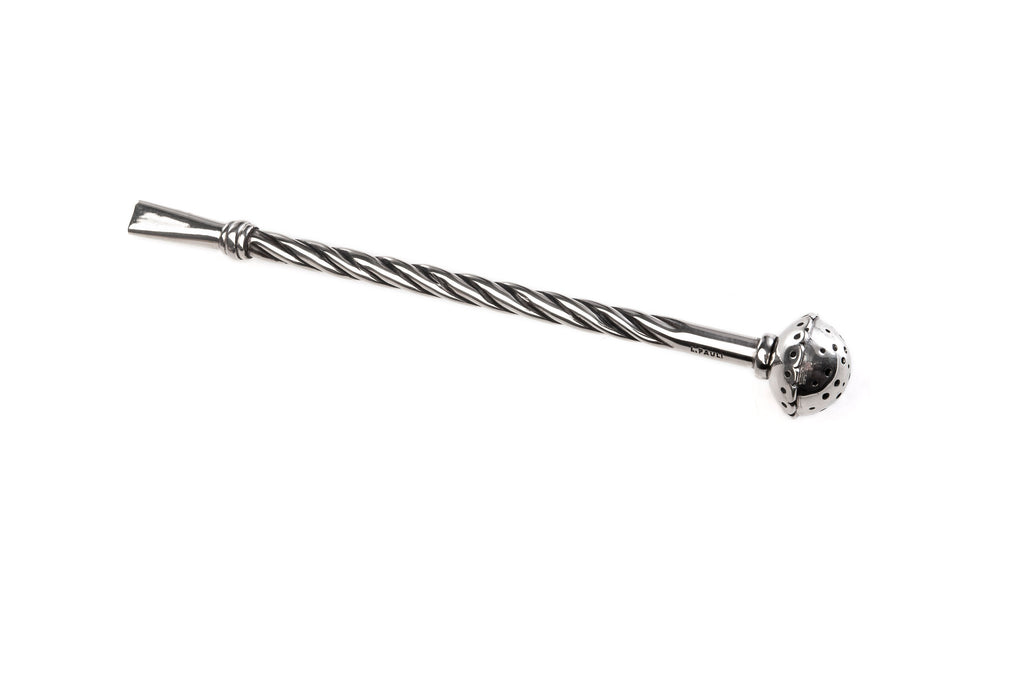 German silver Mate straw