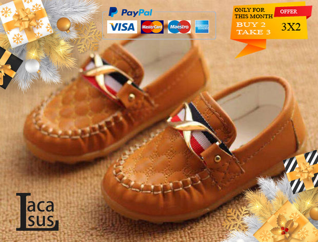 Moccasins Style Leather Baby Shoes