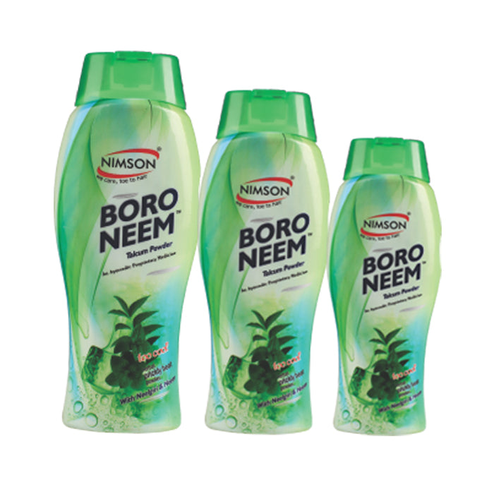 Boro Neem Talcum Powder 150gm (Pack of 3)
