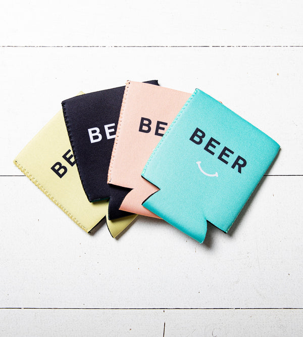 Beer Smiley Tinnie Coolers - 4 Pack