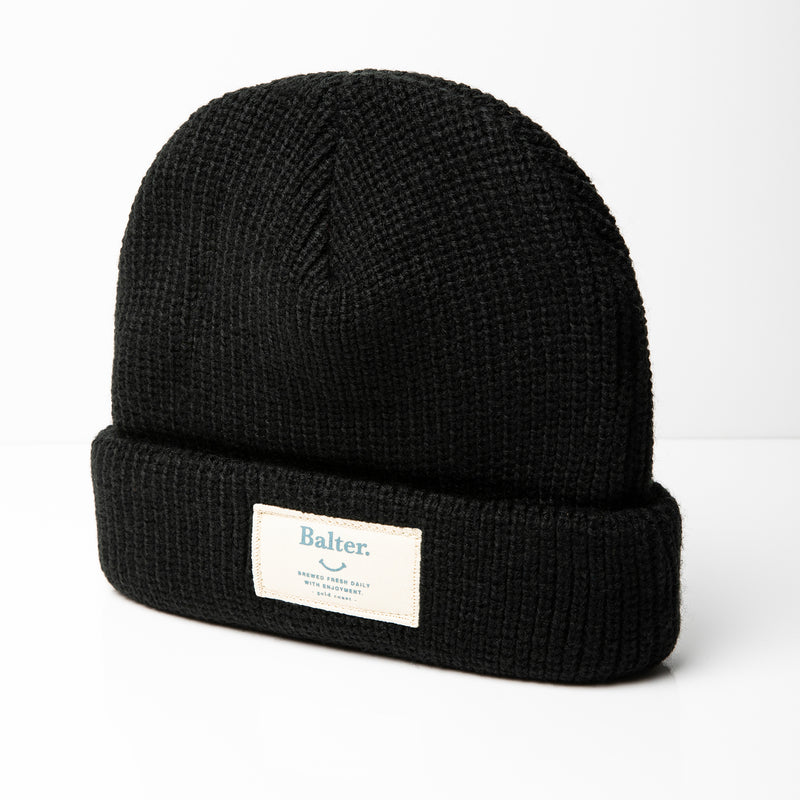 'Fresh Daily' Cable Knit Beanie - Black