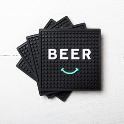 Balter 'Beer Smiley' Coasters 4PK