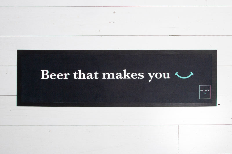 Balter 'Beer that makes you..' Felt Bar Mat