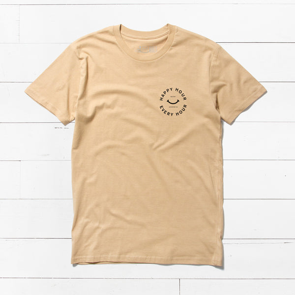 'Happy Hour' T-Shirt | Tan