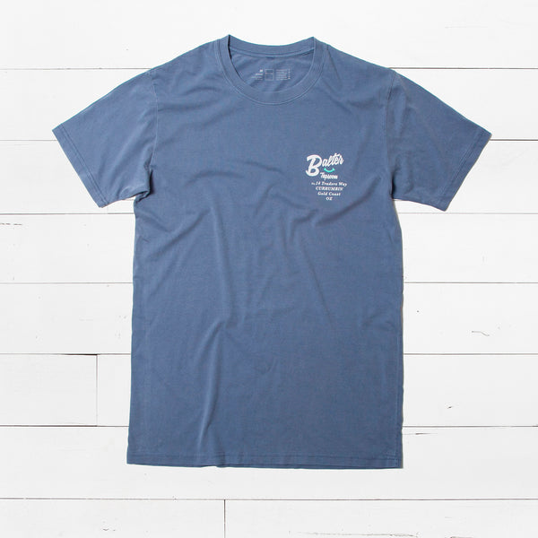 'Fresh Daily' T-Shirt | Faded Blue