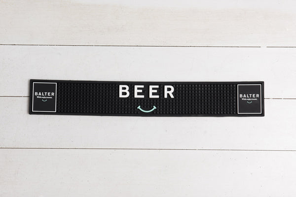 Balter 'Beer Smiley' Bar Mat - Narrow