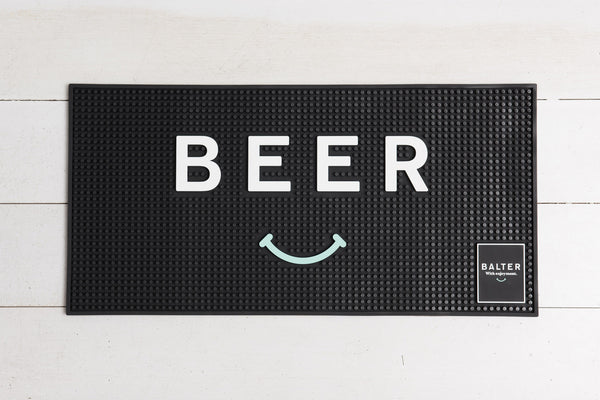 Balter 'Beer Smiley' Bar Mat - Wide