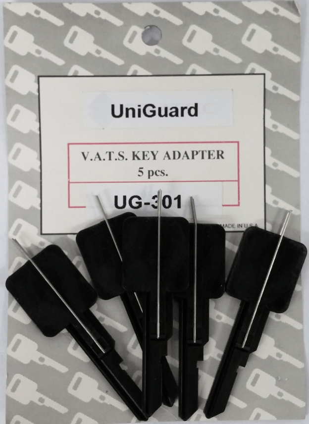 Single sided VATS adapter key blanks 5/pk