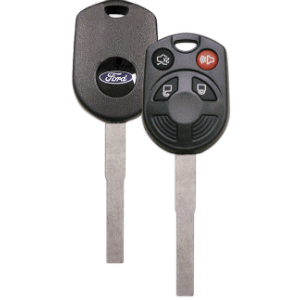 OEM Ford Logo 4 Button IKT Remote Head Key