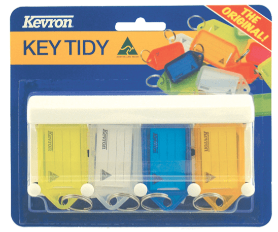 Kevron 4pc Key Tag Rack
