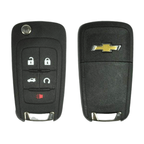Strattec 5 Button PEPS Flip Key- Chevrolet Logo (5921873)
