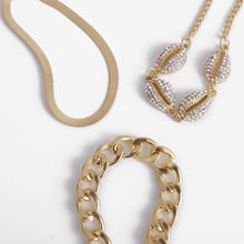 Load image into Gallery viewer, Lux rhinestones shell bracelets, link chain, miami cuban bracelets. - olalace