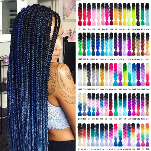 Ombre Synthetic Braiding Hair - olalace