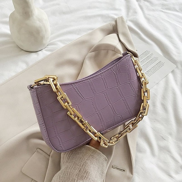 Link gold chain bags - olalace