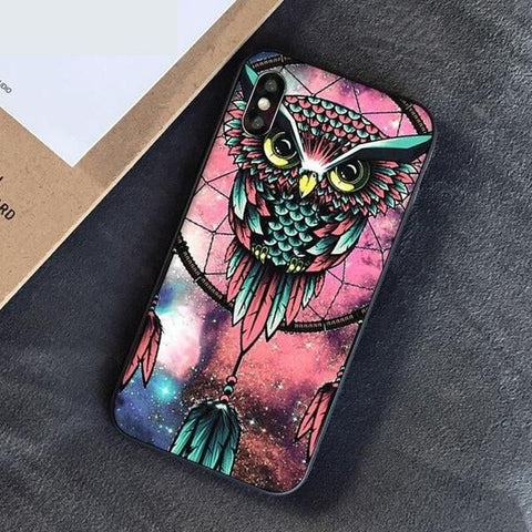 coque iphone hibou