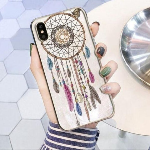 Coque Attrape Rêve iPhone Couleurs Pastels