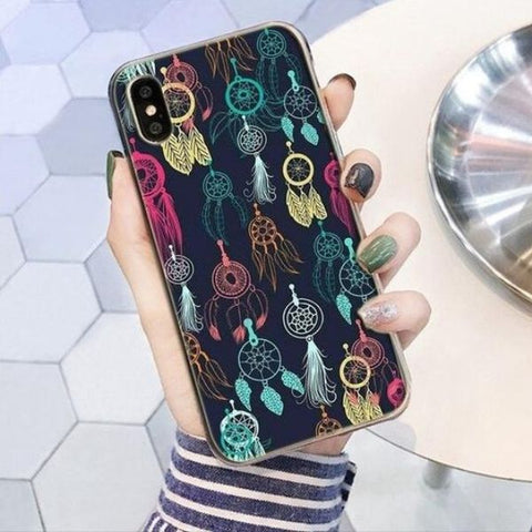 Coque Attrape Rêve iPhone Multi Couleurs
