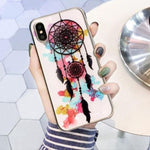Coque Attrape Rêve iPhone Fond Blanc
