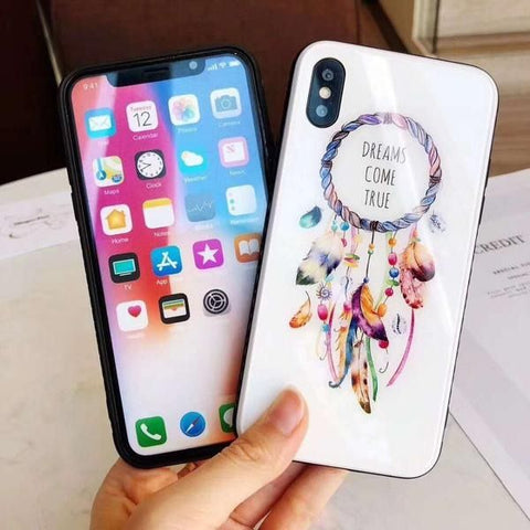 Coque Attrape Rêve iPhone Blanc Brillant