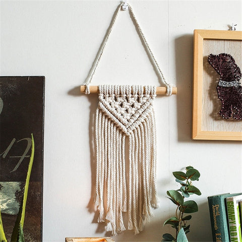Attrape Rêve Macramé Triangle Long