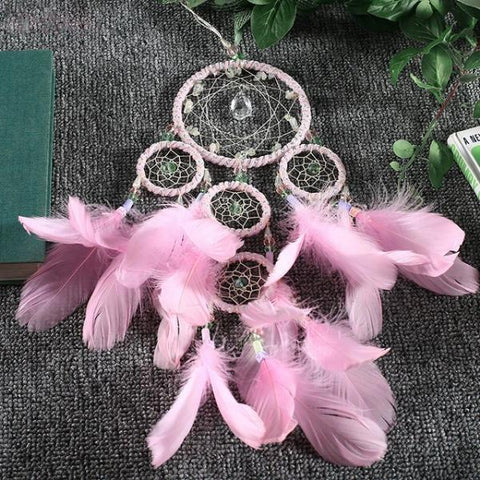 Attrape Rêve Rose Dreamcatcher Princesse