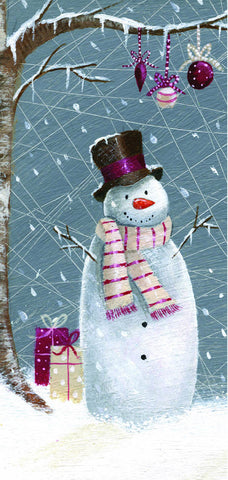 Jolly Snowman/Christmas Stocking - pack of 10