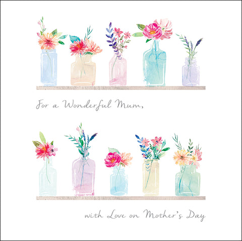 For a Wonderful Mum Mother's Day Card