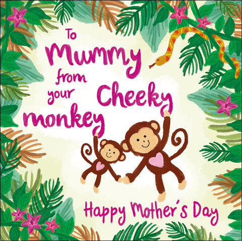 To Mummy From Cheeky Monkey Mother's Day Card